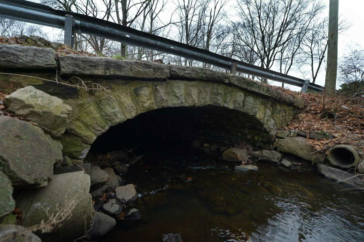 The bridge spanning Keeler Brook on Rowayton Ave. Friday, December 14, 2018, in Norwalk, Conn.