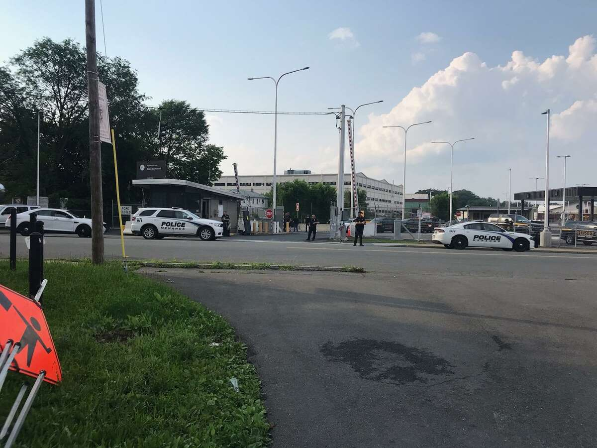 Police are responding to a reported barricaded person at the Watervliet Arsenal on Wednesday evening July 7, 2021.