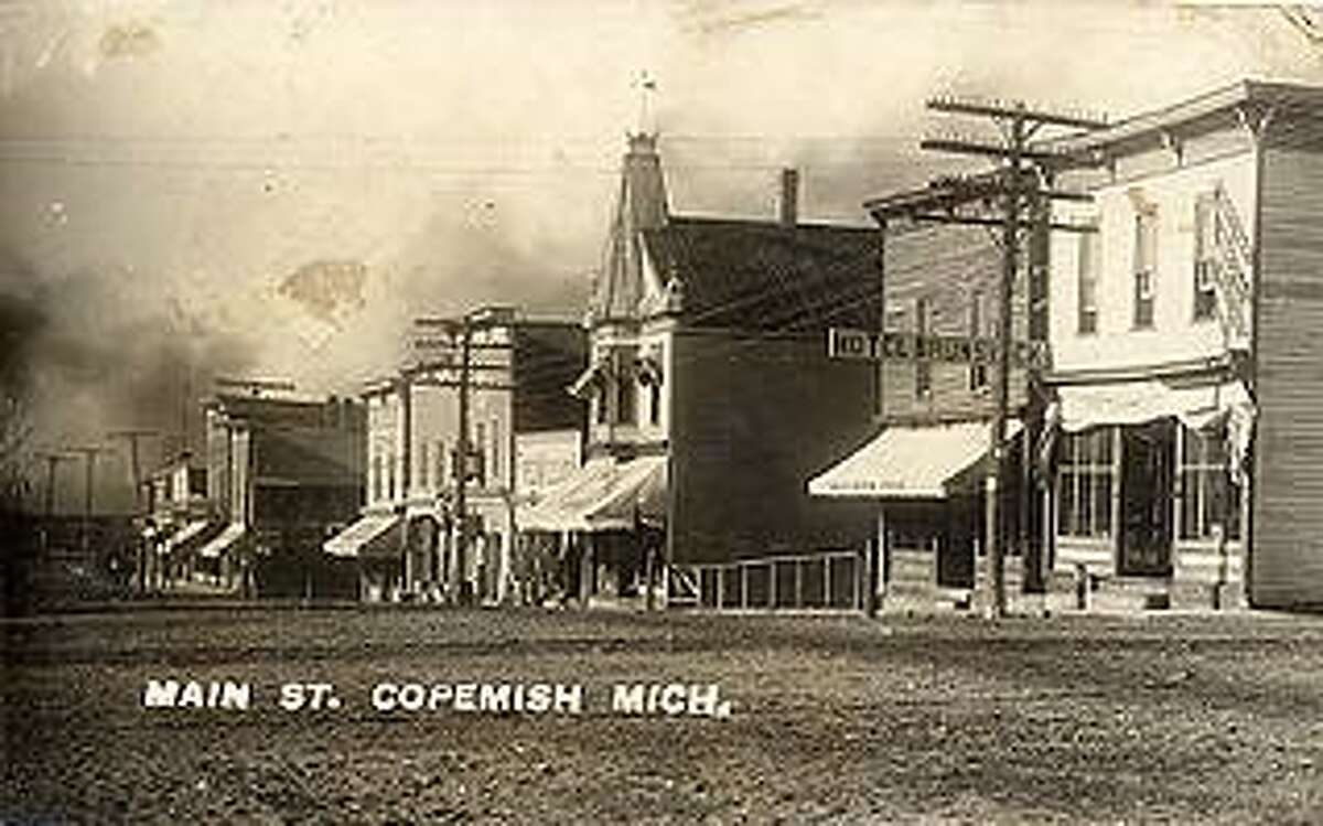 Downtown Copemish, circa 1900s.