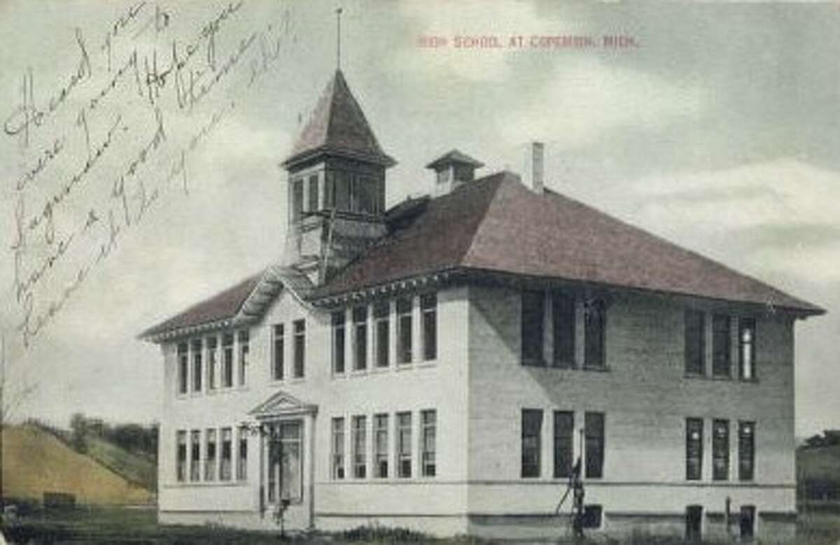 The second school in Copemish was located on Fourth Street, circa 1908.