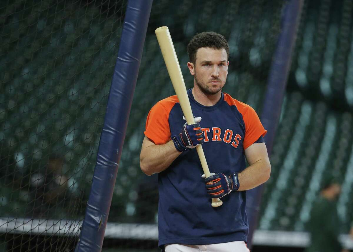 Alex Bregman took batting practice Wednesday as he works his way back from a strained quad.