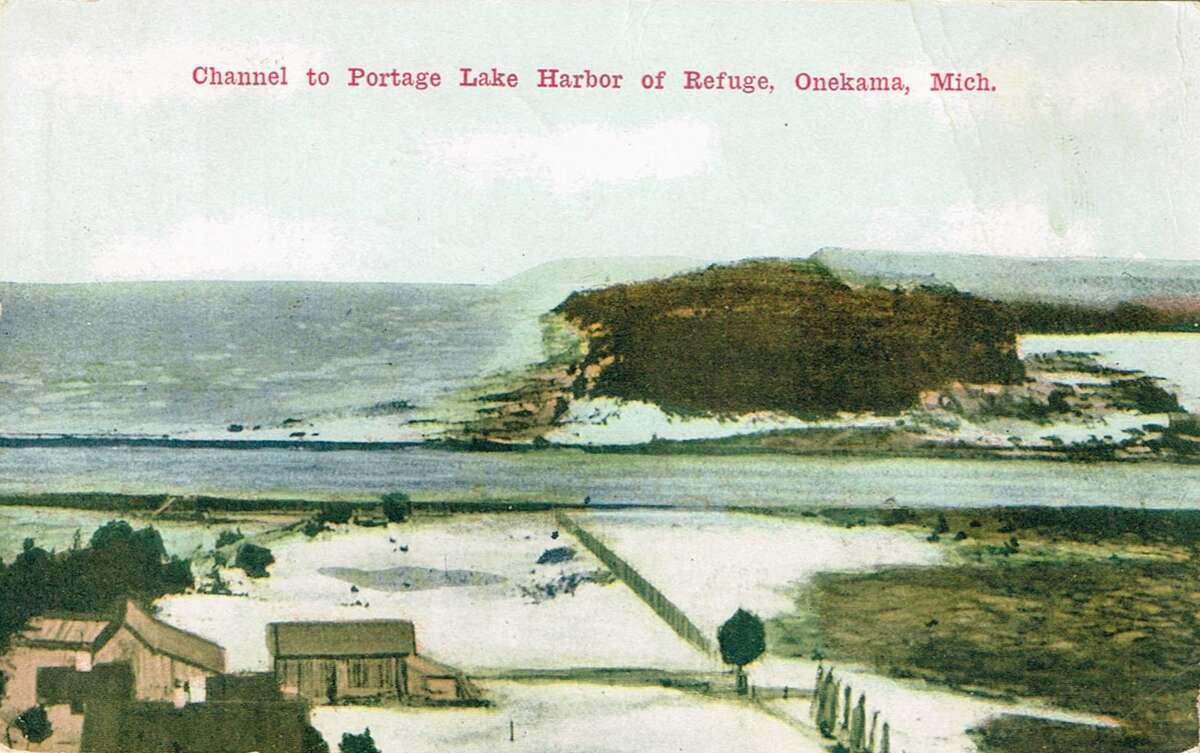 Portage Lake Channel and Lake Michigan 1912.