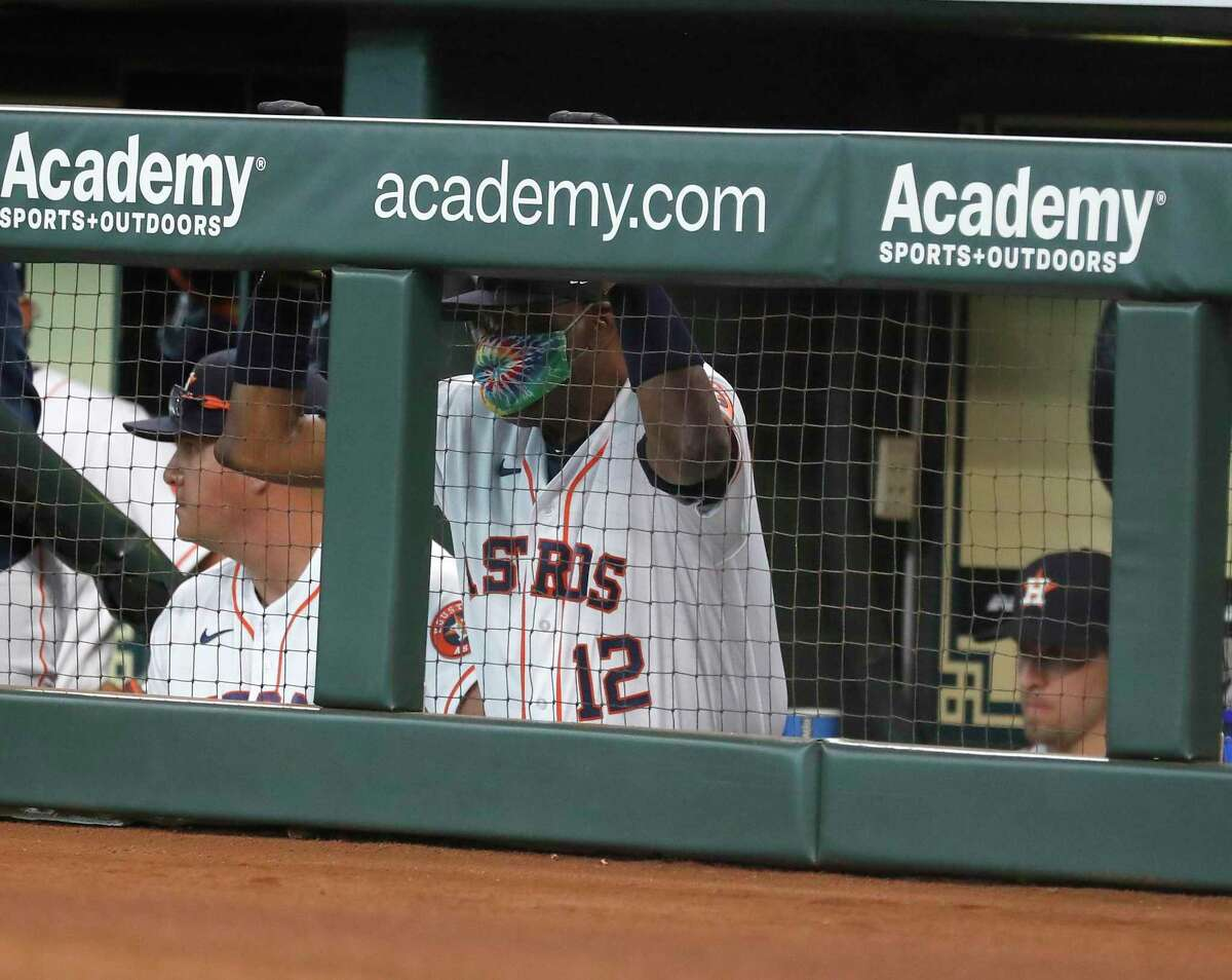 For the first time since spring training was abruptly canceled and opening day was delayed on March 12, 2020, due to the coronavirus pandemic, Astros manager Dusty Baker addressed the media from the dugout steps instead of thorugh a Zoom call.