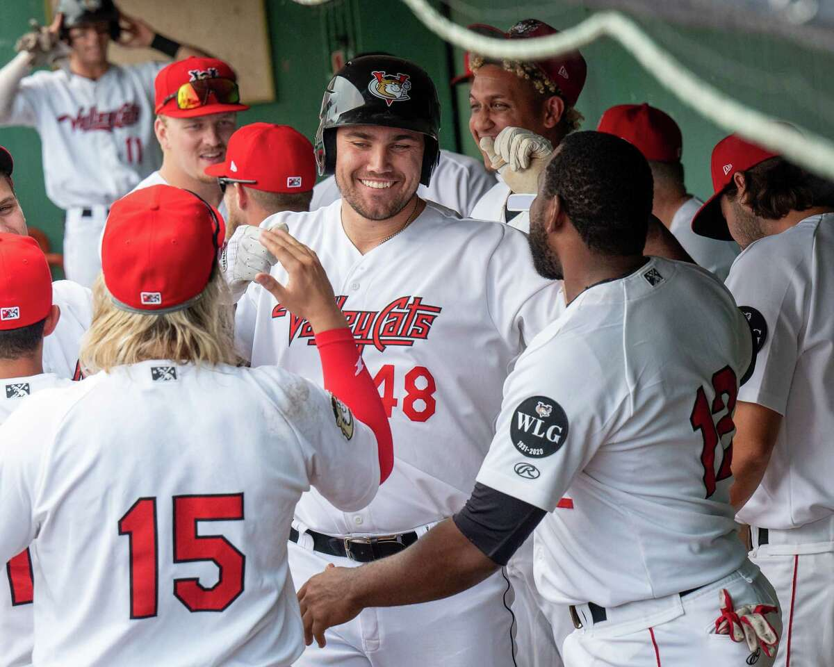 Tri-City ValleyCats designated hitter Brad Zunica, shown earlier this season, was 2-for-5 on Thursday against Sussex County.