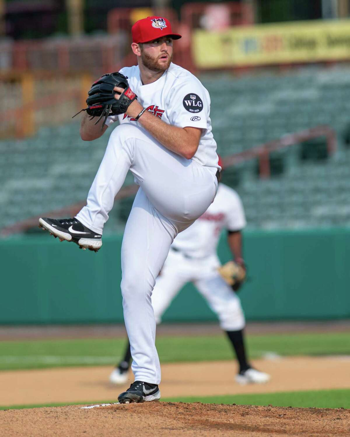 Tri-City ValleyCats starting pitcher Parker Kelly works against the New York Boulders at Joseph L. Bruno Stadium on the Hudson Valley Community College campus in Troy, NY, on Wednesday, July 7, 2021. (Jim Franco/Special to the Times Union)