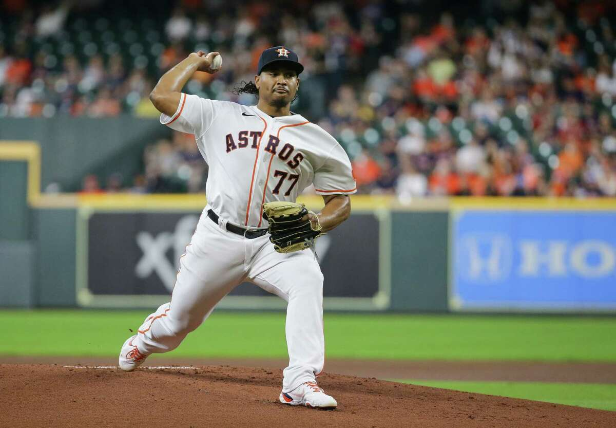 Luis Garcia tossed five innings of one-run ball during Wednesday's win over Oakland. But the Astros have decisions to make as he's on pace to throw more innings than any season as a professional.