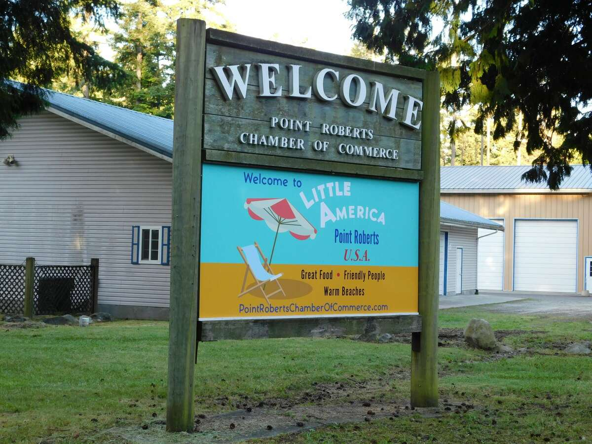 Welcome sign in Point Roberts.