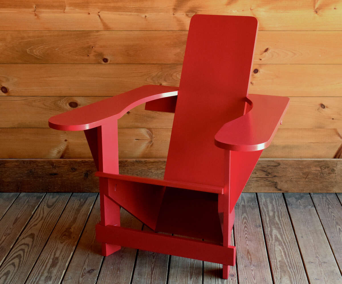 """Jay Haws, owner of furniture manufacturer and home store Dartbrook Rustic Goods in Keene, sells Westport chairs, based upon the original design of the Adirondack chair. The irony, he said, is that there are now more makers of Adirondack chairs around the world than there are in the Adirondacks, where his company is based. """"It's funny to me, the legs it's grown."""""""