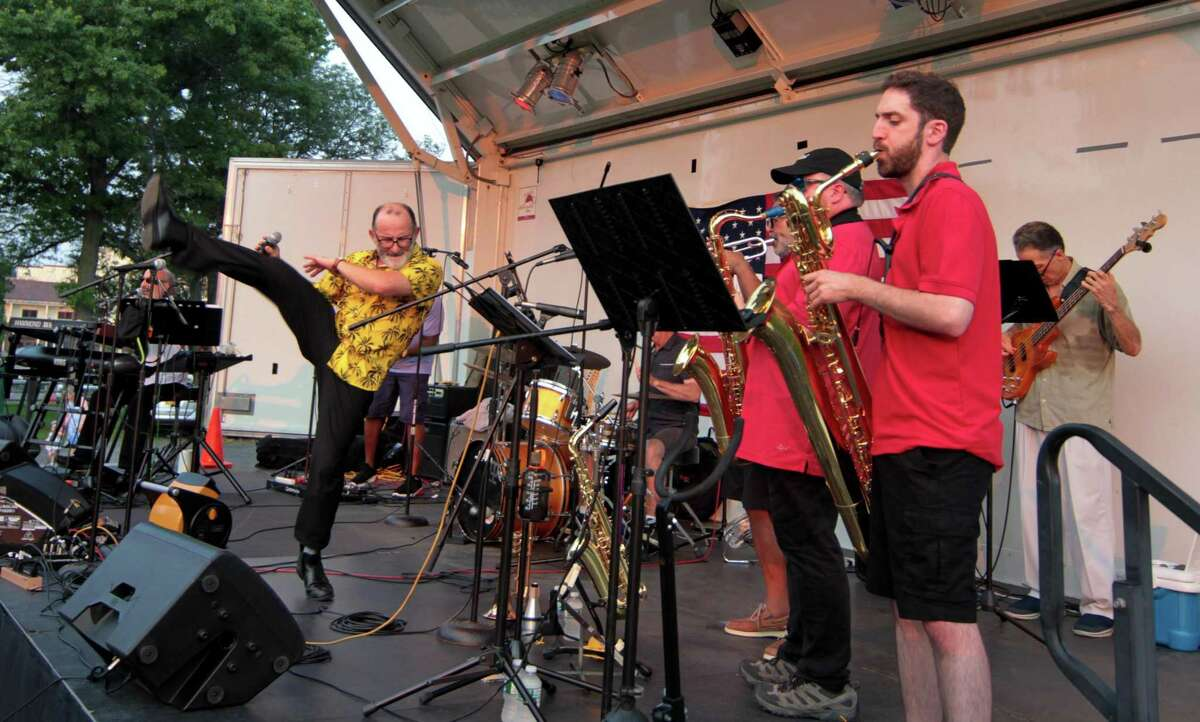 Soul'd Again performs Motown favorites at Roger Sherman Baldwin Park in Greenwich, Conn., on Wednesday July 7, 2021.