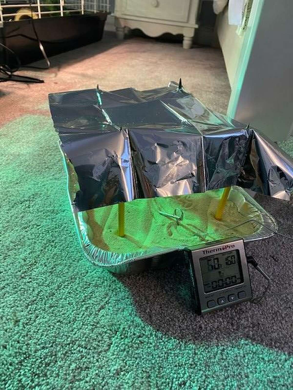 The Turtle Tent is made out of a reflective material called Mylar that prevents sunlight from hitting a nest and cools the sand around it. This, when implemented, would result in more male sea turtles to be hatched.