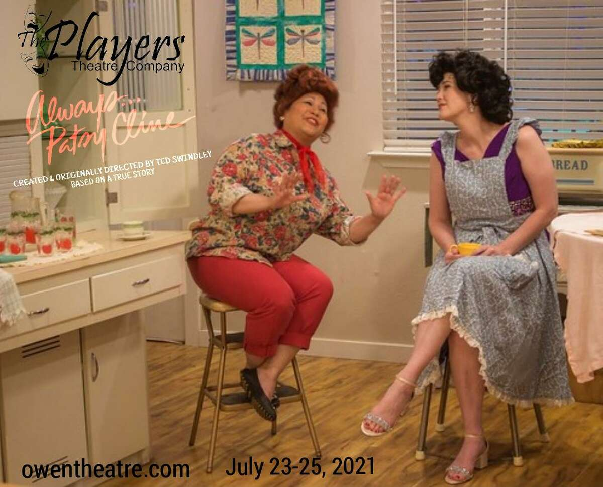 """Pictured are Angelie De Los Santos as Louise Seger and Theresa Black as Patsy Cline in The Players """"Always ... Patsy Cline"""" fundraiser show July 23-25 at the Owen Theatre."""