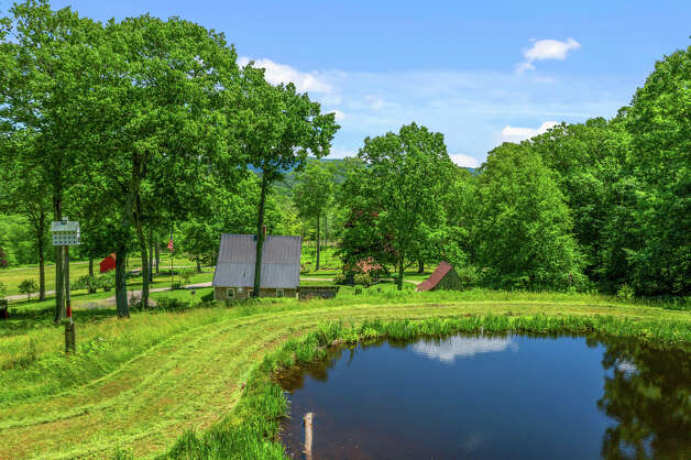 TheSalisbury property has a pond on its nearly62 acres of land. View listing Photo: Noah Butler / Alpha Photography