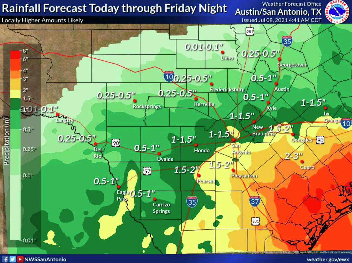 While San Antonio is not expected to get the worst of Thursday's rain, residents should still be prepared for another round of wet conditions.