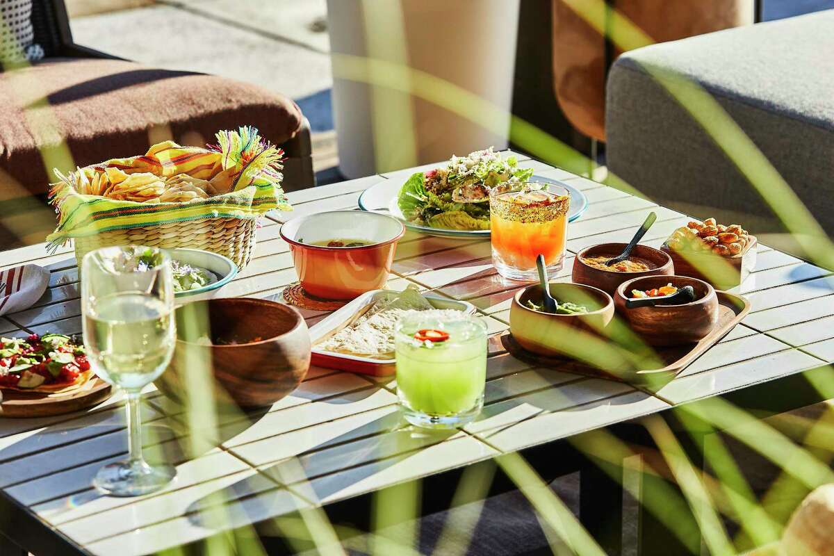 A spread of Mexican eats and drinks at Picobar, the new restaurant within Auberge's Solage resort in Napa Valley.