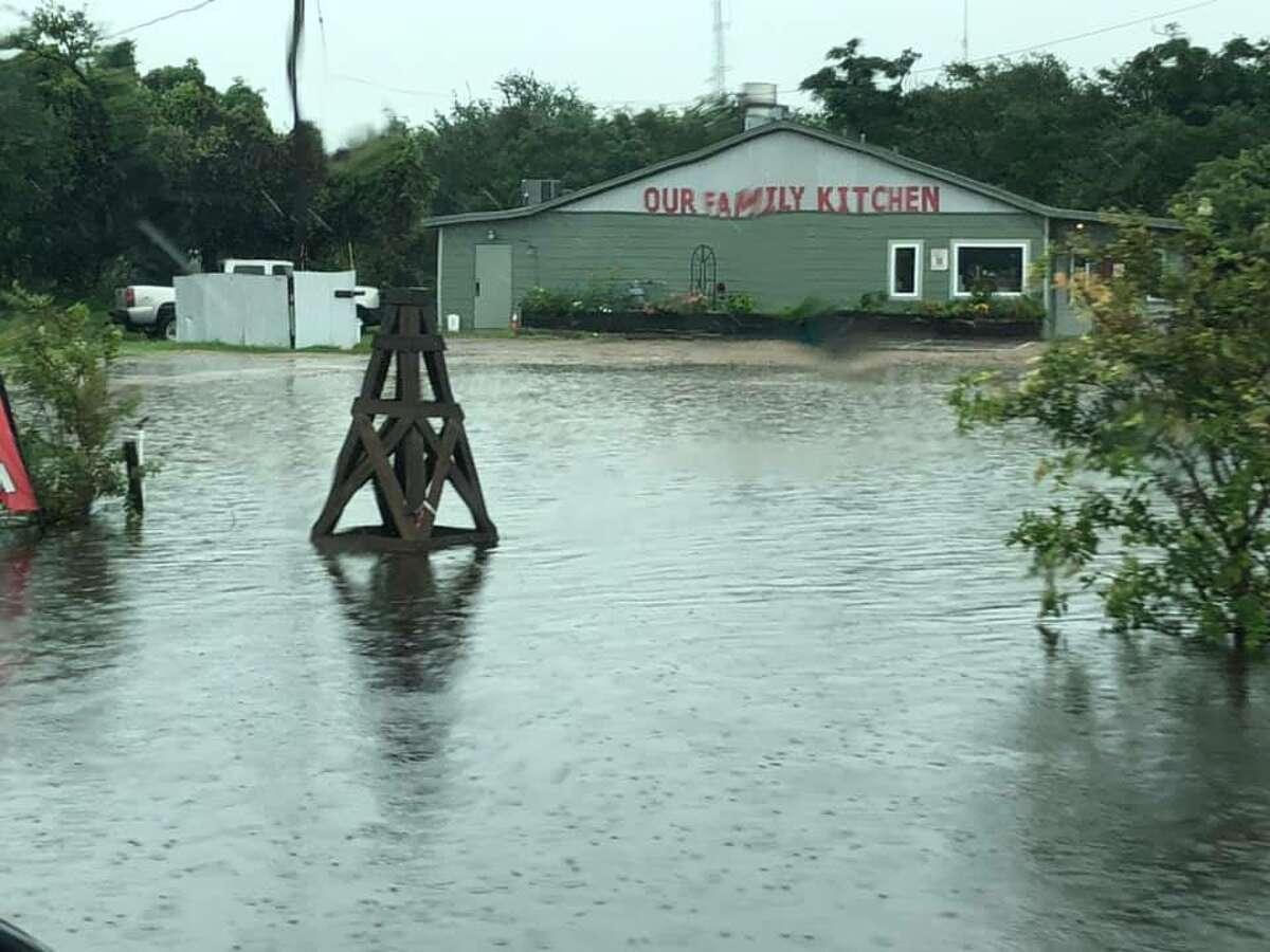 Local Carolyn Matthews shared photos of the flooding she's encountered in Rockport. She says it's rained most Wednesday night and continues to into Thursday morning.