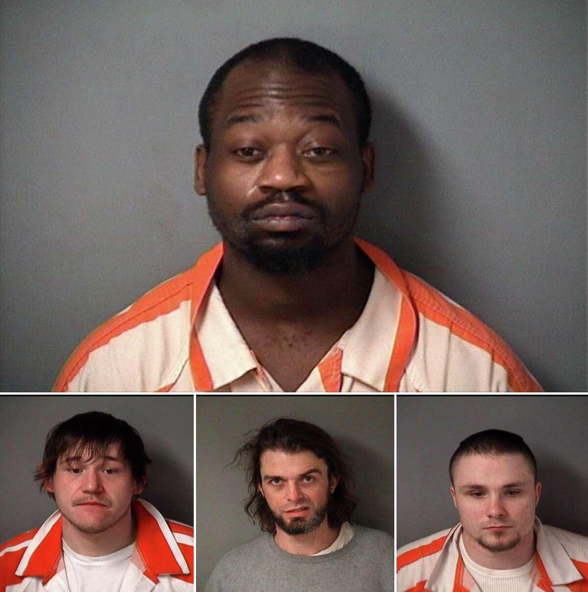 Jesse Davis, top, Cody Villalobos, right, Zachary Hart, center, Eugene Roets, left