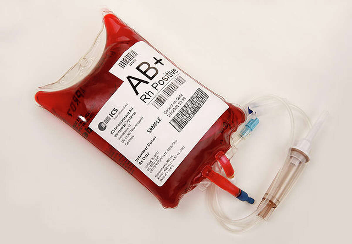 A bag of AB+ blood