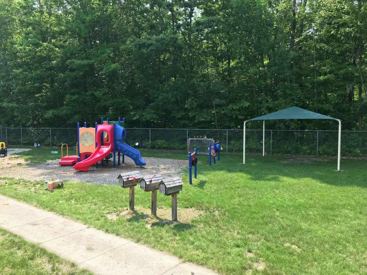Midland Kiwanis has worked on many playground projects throughout the county over the past 20 years, including this one atNorth Midland Family Center preschool. (Photo provided)