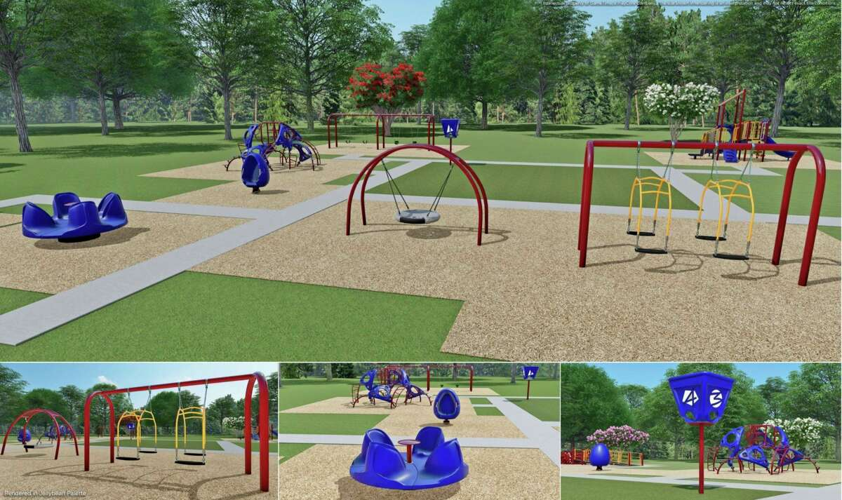 An artist's rendering of the playground at the Midland Pediatric Center for Rehabilitation and Behavioral Health.Midland Kiwanis has worked on many playground projects throughout the county over the past 20 years, including this one in honor of its 100th anniversary.(Photo provided)