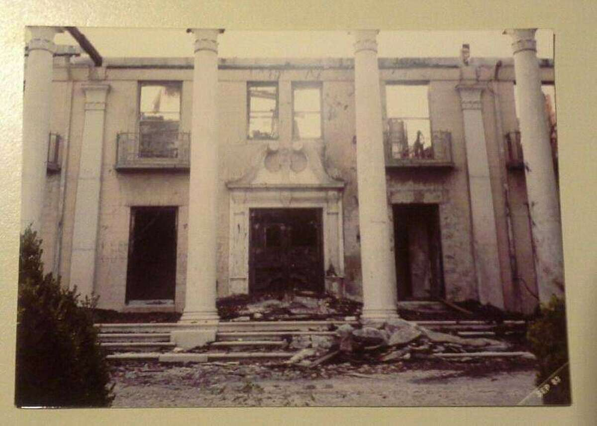 Photo of the ruins of Gillespie Mansion taken in 1981.