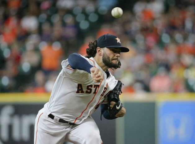 Houston Astros starting pitcher Lance McCullers Jr. (43) throws the ball against the Oakland Athletics during the first inning of an MLB game at Minute Maid Park on Thursday, July 8, 2021, in Houston. Photo: Godofredo A. Vásquez, Staff Photographer / © 2021 Houston Chronicle