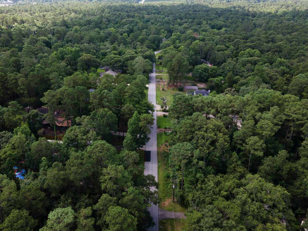 The Conroe City Council is circling back to one of its hot button issues after residents express concern over a proposed new residential development would mean the removal of hundreds of trees. This file photo shows a wooded area where a new residential development is planned near Wroxton and Forest Estates.