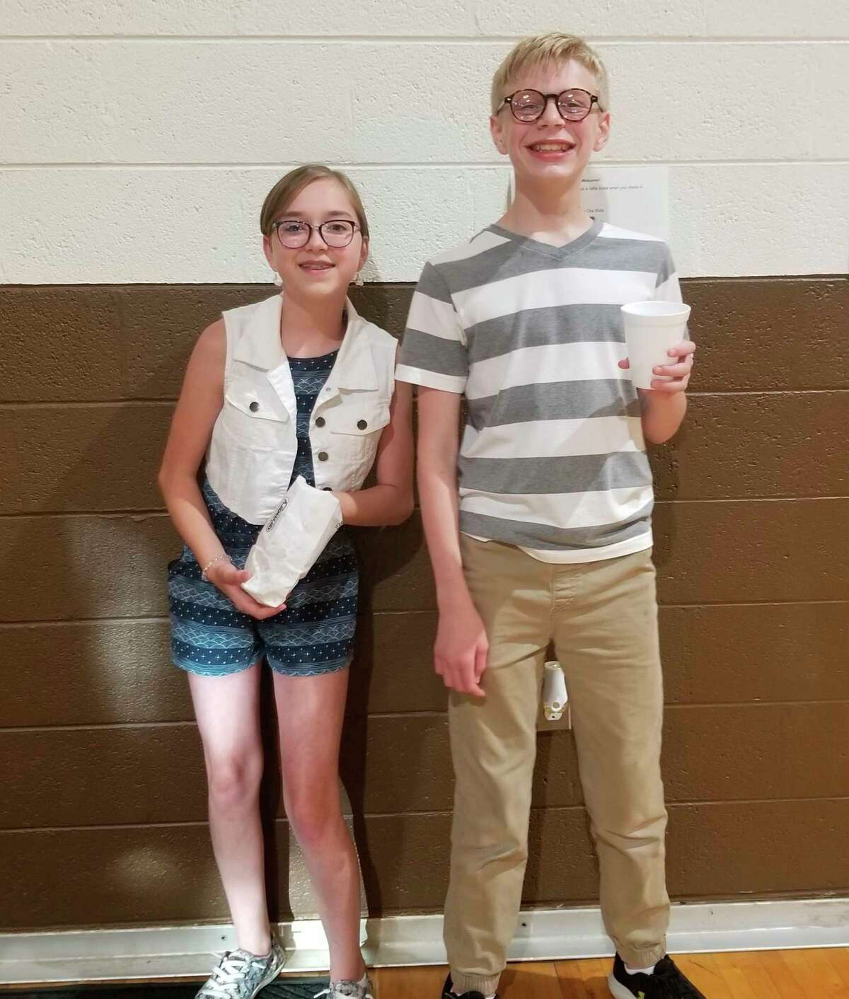 Two students pose for a photo during the Armory Youth Project dance held on July 1. (Courtesy photo)