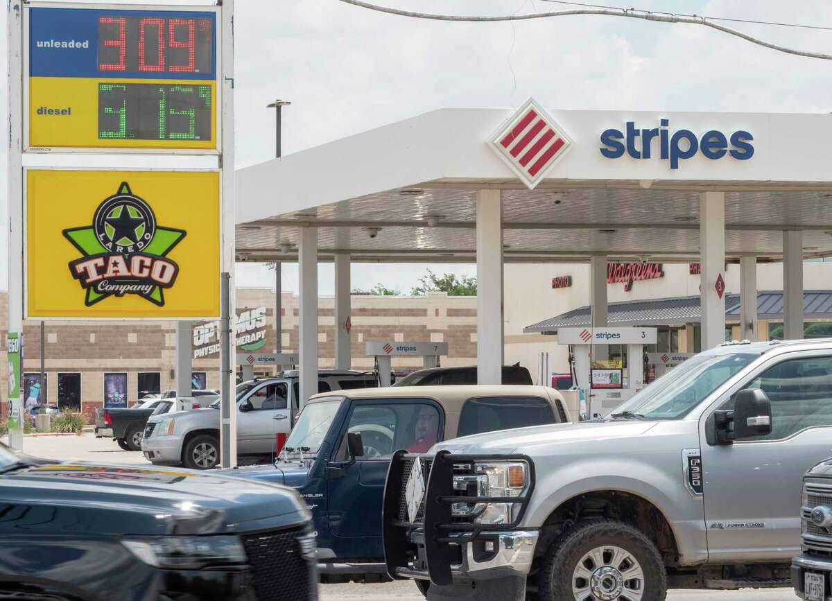 While most gas stations around Midland are holding regular unleaded prices under $3 a gallon 07/08/2021 some like this Stripes at Andrews Hwy and Midland Dr. have broken the $3 mark. Tim Fischer/Reporter-Telegram