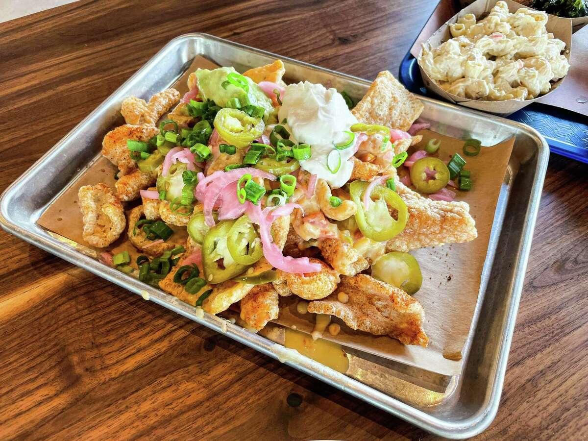 Cracklin nachos atFeges BBQ Spring Branch
