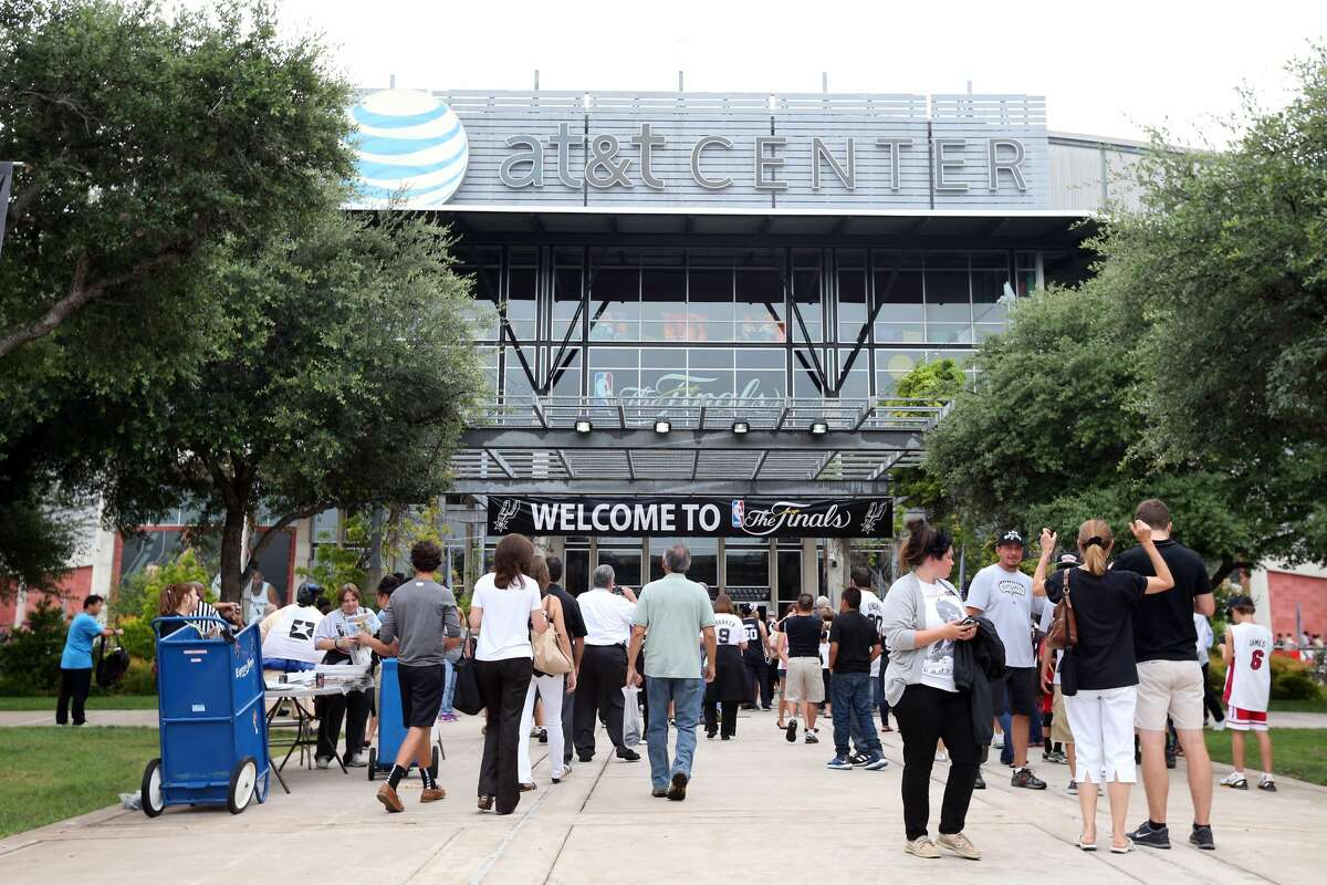 SAN ANTONIO, TX - JUNE 11: A general view of the exterior of the AT&T Center before Game Three of the 2013 NBA Finals between the San Antonio Spurs and the Miami Heat on June 11, 2013 in San Antonio, Texas. NOTE TO USER: User expressly acknowledges and agrees that, by downloading and or using this photograph, User is consenting to the terms and conditions of the Getty Images License Agreement. (Photo by Christian Petersen/Getty Images)