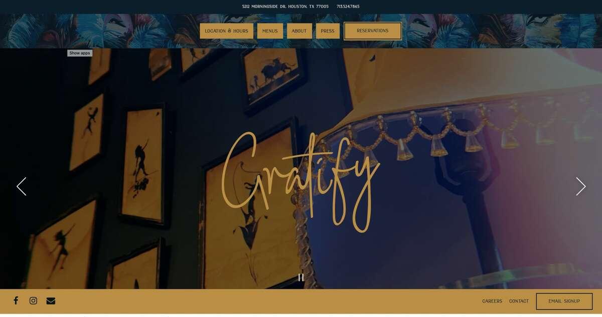 Gratify is a new restaurant in Rice Village.
