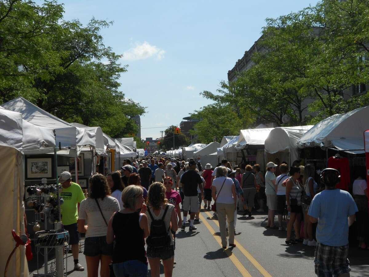 The 2019 Ann Arbor Art Fair in downtown Ann Arbor Michigan