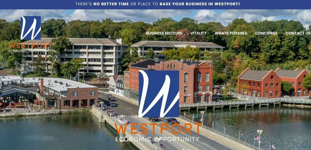 The home page of ChooseWestport.com, a new website that represents a partnership between commercial developers, real estate agents and the Town of Westport. The site describes the benefits of opening and operating a business in Westport.