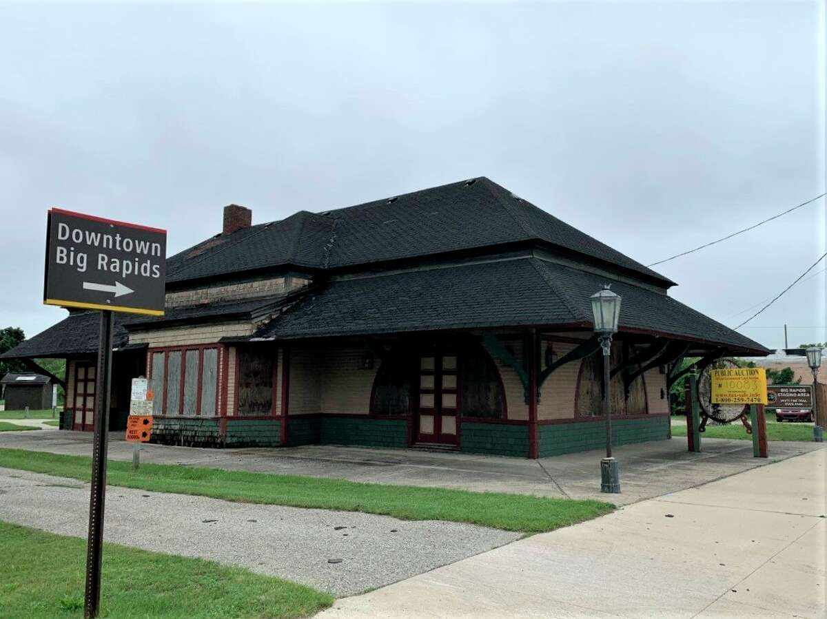 The Big Rapids city commission is in discussions regarding the purchase of the Depot property when it goes up for auction by the DNR in August. (Pioneer photo/Cathie Crew)