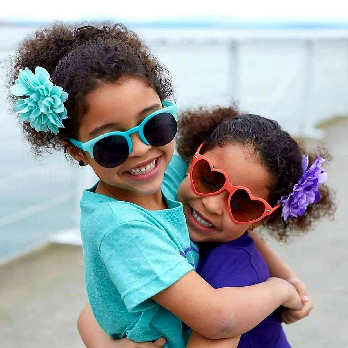 Ten-year-old twins Makayla and Avery, owners and founders of A&M Jamaican Bag Juice and Beef Patty.