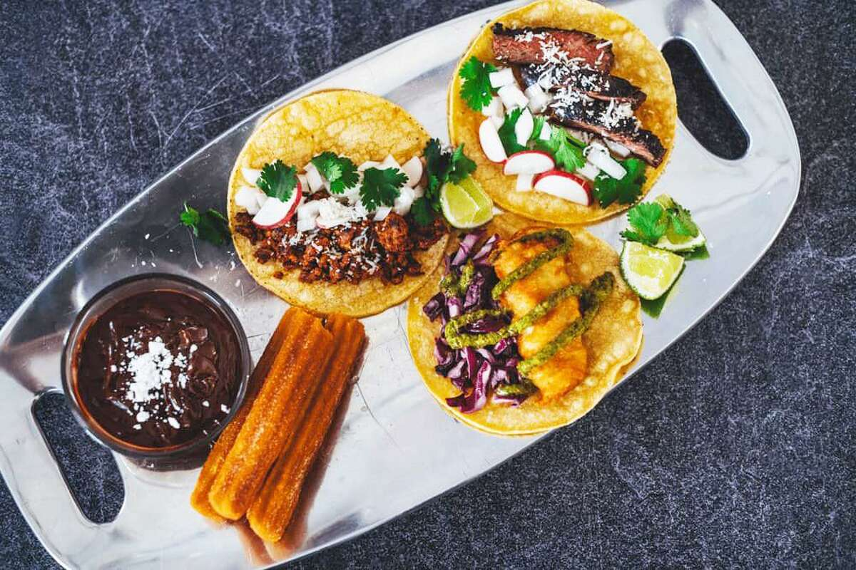 Taco Flores Owner Jordan Flowers said he was immediately attracted to the idea of participating in the New England Taco Festival because it meshes well with his desire to offer authentic fare. It will be held on the Guilford Fairgrounds July 31 and Aug. 1. Shown is one of the mobile restaurant's dishes.