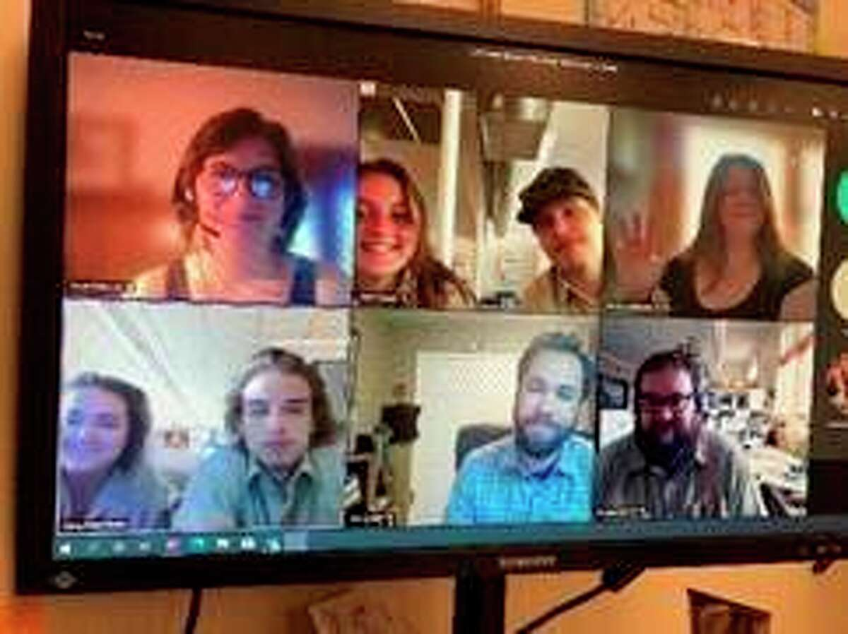 There aretwo River Rangers on each of the Au Sable, Manistee, Pere Marquette and Manistee rivers. Pictured is their virtual meet and greet. (Courtesy photo/Huron-Manistee National Forests)