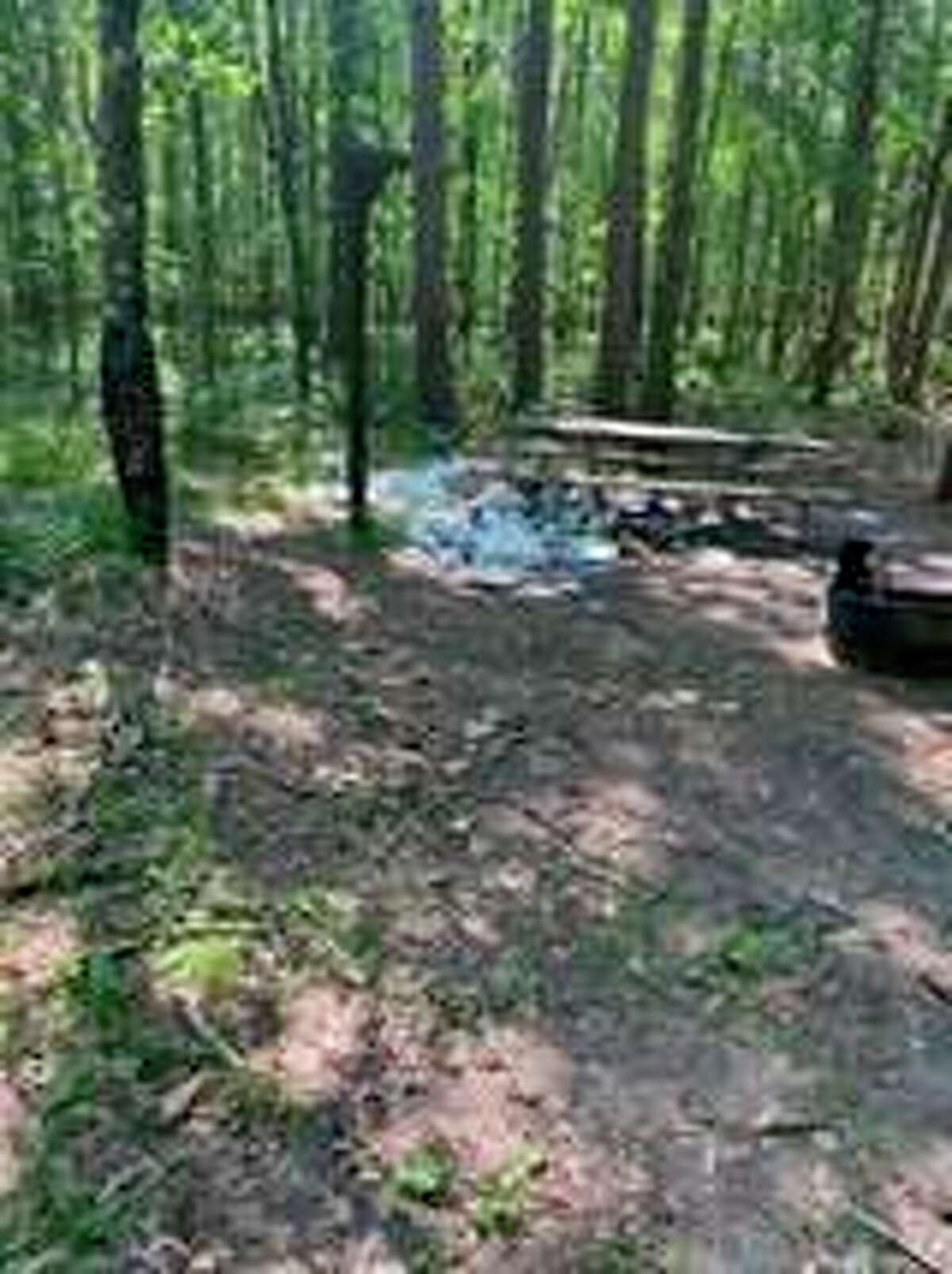 The River Rangers are reminding people about the Leave No Trace principles. A camper left this large amount of garbage behind in early June, the Rangers helped identify the camper and cleaned up the site.(Courtesy photo/Huron-Manistee National Forests)