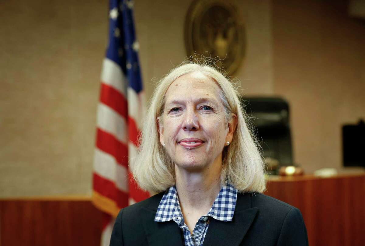 Ellen Alexander, longtime case manager for U.S. District Judge David Hittner, recently received the Liberty Bell award Wednesday, July 7, 2021, in Houston.