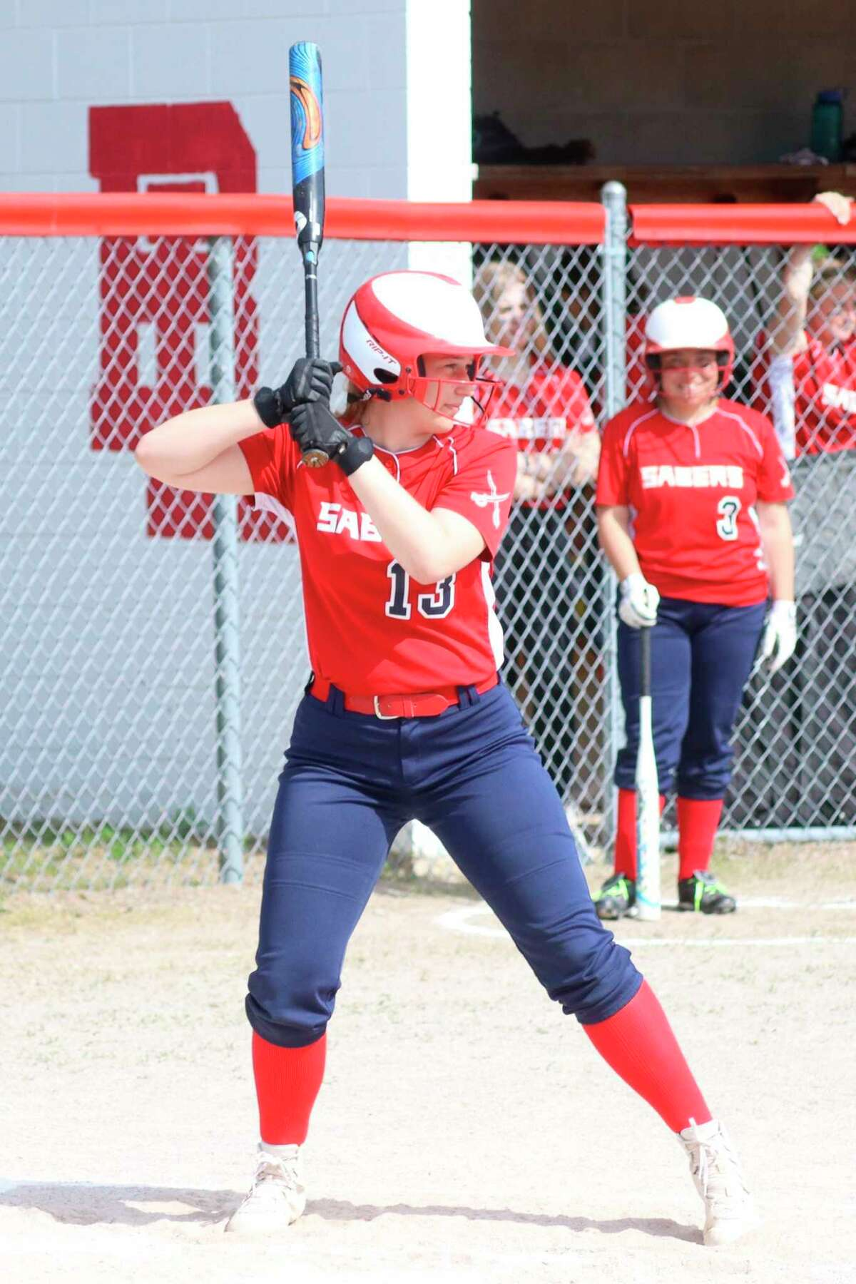 Emily Miller waits on a pitch during a game at Bear Lake. (News Advocate file photo)