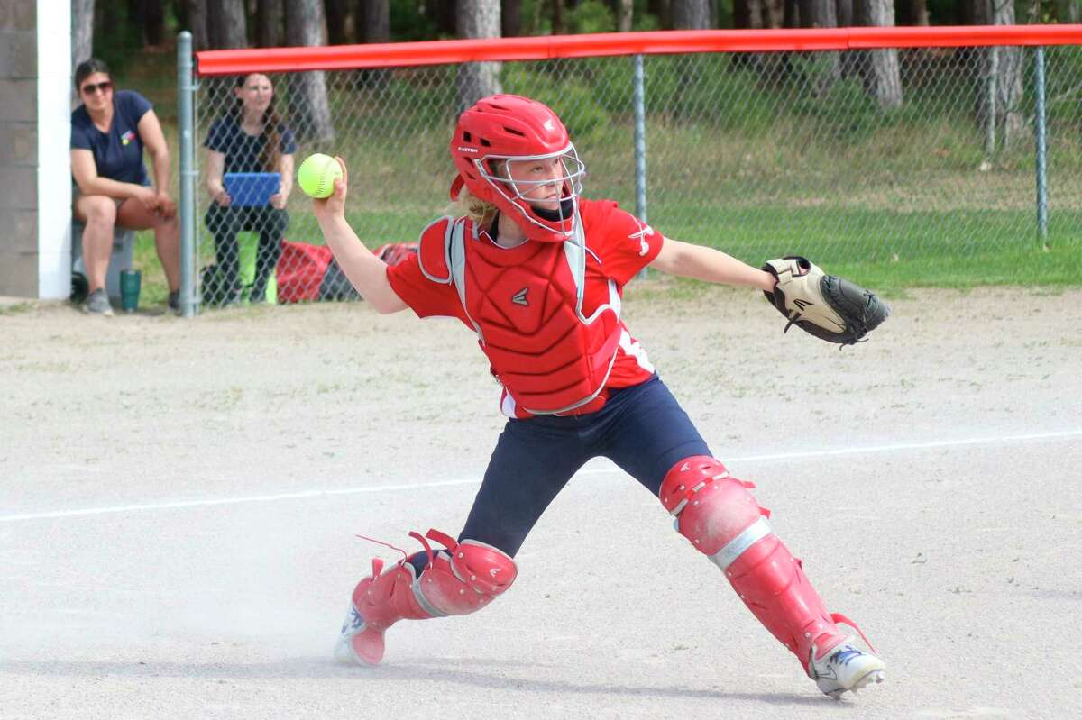 Manistee Catholic coach Kaytlin Heck called Grace Kidd a great defensive player who rarely committed errors. (News Advocate file photo)