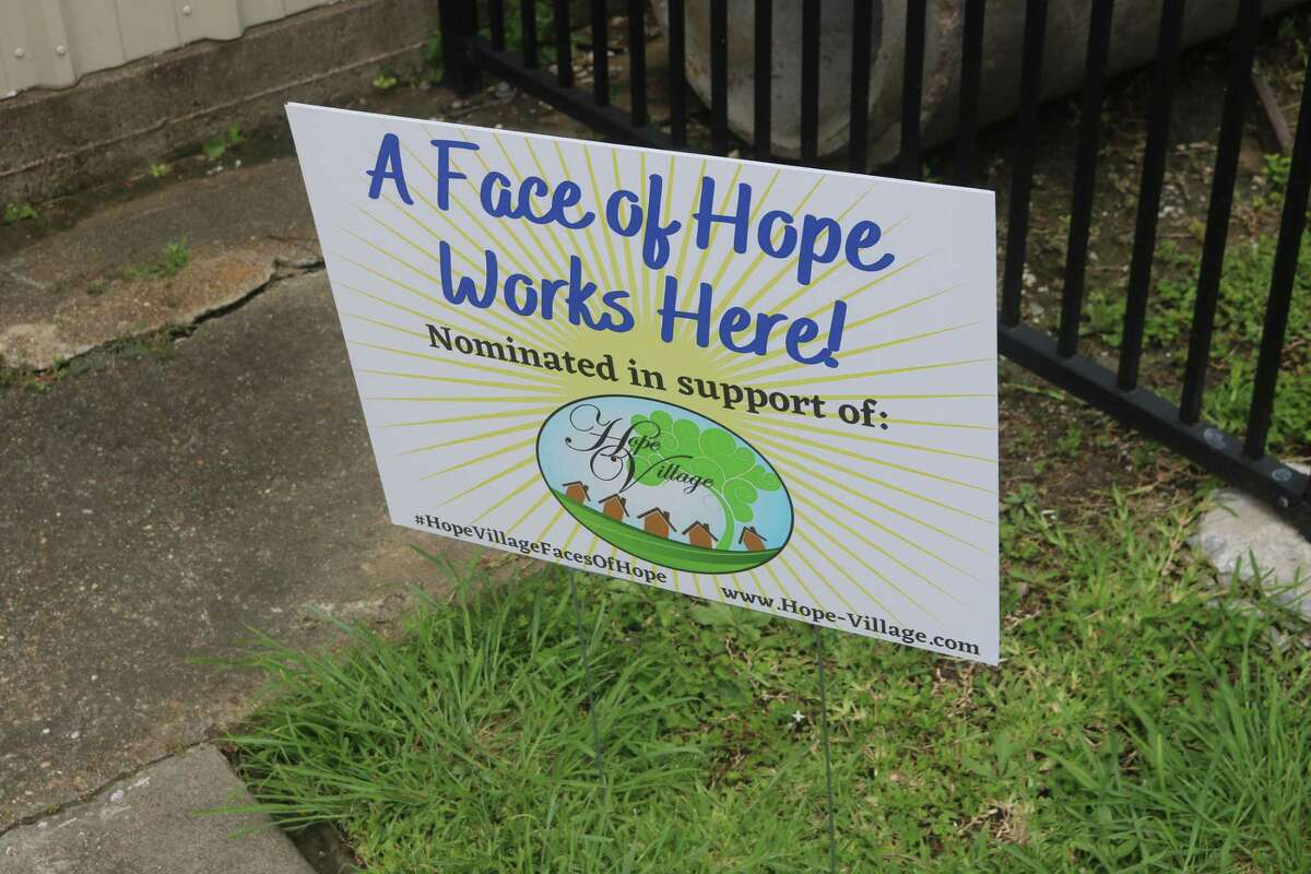This sign on the Hope Village campus indicated that someone contributed to the organization's recent fundraiser.