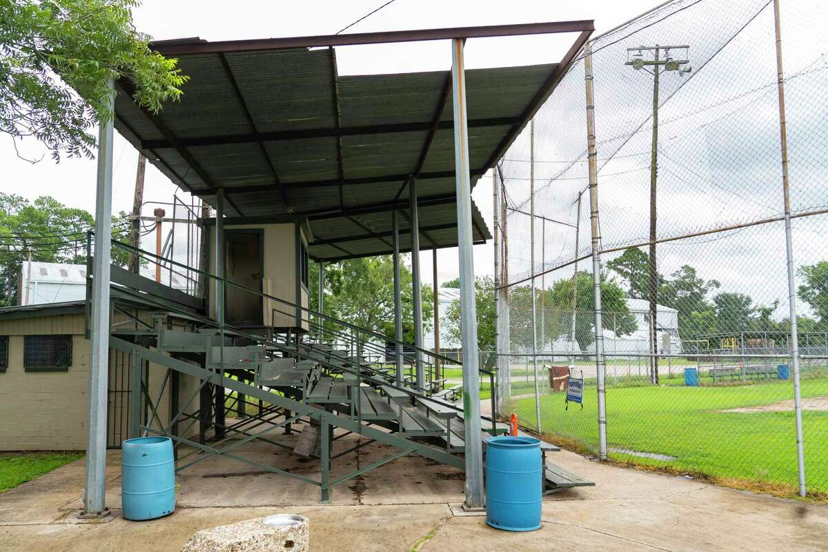 The Heights Lions Club, a local chapter of the worldwide nonprofit focused on volunteering and fundraising in the community, is currently battling Oaks Dads' Club, a youth sports nonprofit, over ownership of this field in Oak Forest. Photographed, Wednesday, July 7, 2021, in Houston.