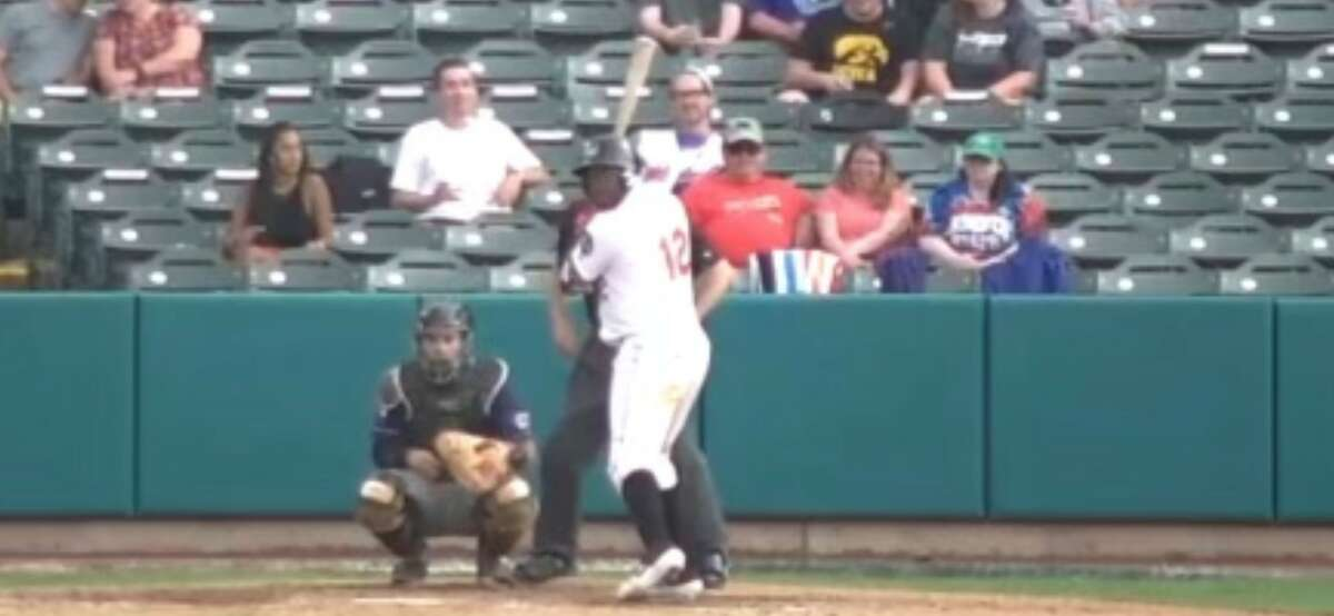 ValleyCats manager Pete Incaviglia criticized home-plate umpire Ruben Ramirez III, shown standing behind Tri-City batter Denis Phipps in this screen grab, for his positioning behind the plate in Wednesday's loss.