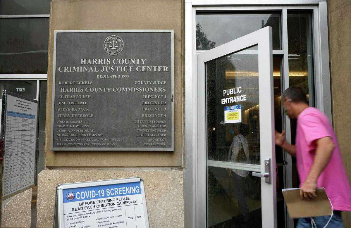 The Harris County Criminal Justice Center, 1201 Franklin St., is shown Monday, June 28, 2021 in Houston.
