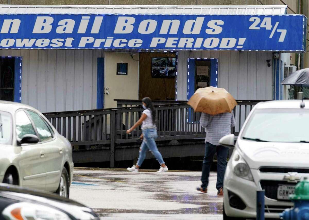 H-Town Bail Bonds, 305 Caroline St., is shown Monday, June 28, 2021 in Houston.