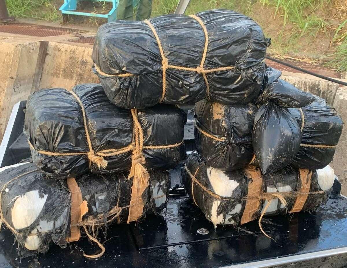 U.S. Border Patrol agents seized these bundles of marijuana in west Laredo.