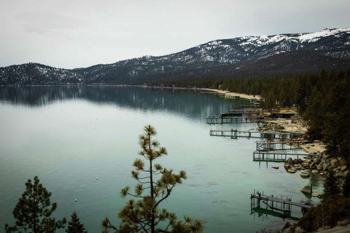 Incline Village, Nevada on the shoreline of Lake Tahoe on March 17, 2021.