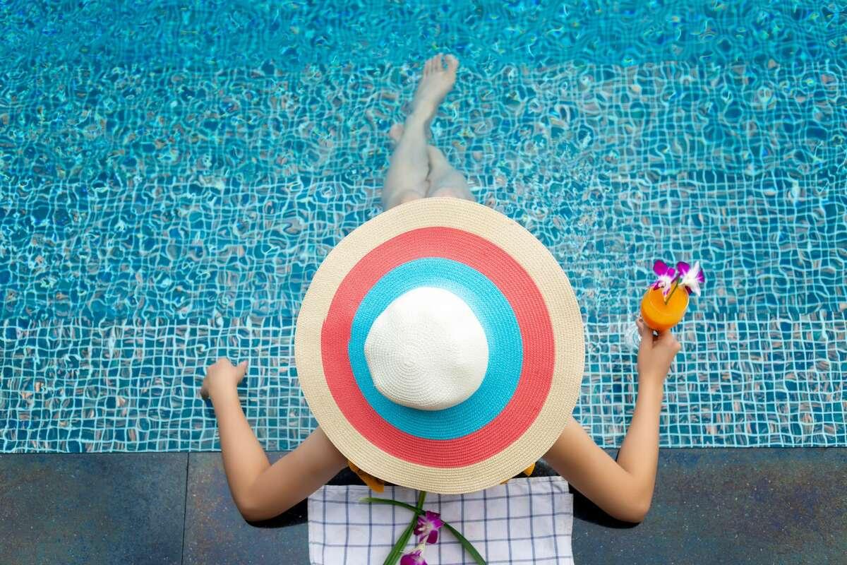 Summer fun at the resort pool.