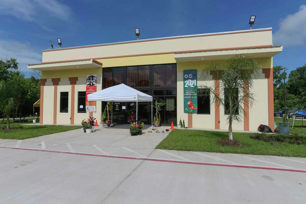 The newly built community center hosts the placement of deities during the Rath Yatra Festival at the Orissa Cultural Center on July 2, 2021 in Houston, TX.